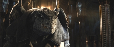 Reptiliaans wezen uit 'Jupiter Ascending', die lijkt op een Draco