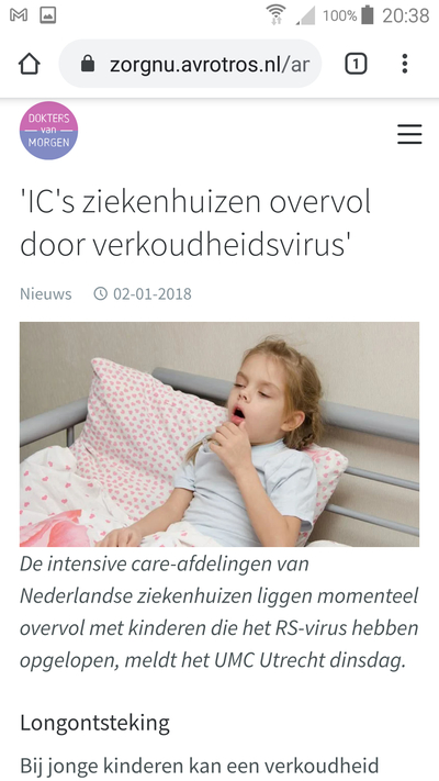 nep corona pandemie, is griep