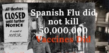 Spaanse griep veroorzaakt door vaccins